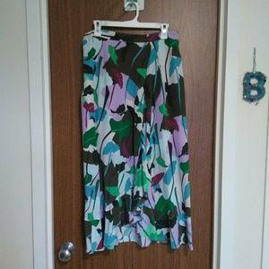 Gorman Silk Monstera Print Skirt 14/10